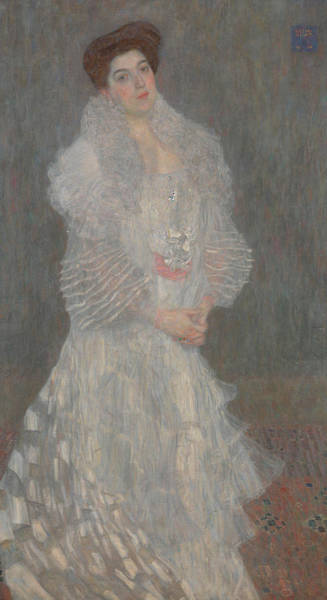 Wall Art - Painting - Portrait Of Hermine Gallia by Gustav Klimt