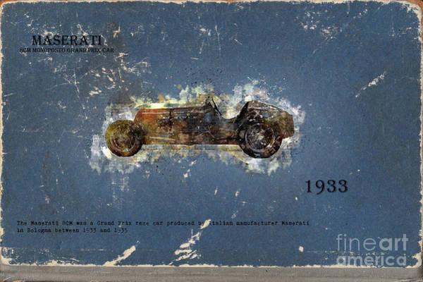 Digital Art - Retro Car In Sketch Style by Ariadna De Raadt