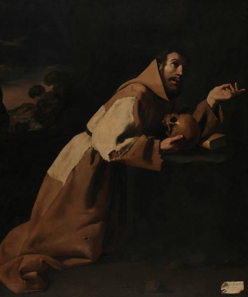 Assisi Painting - Saint Francis In Meditation by Francisco de Zurbaran