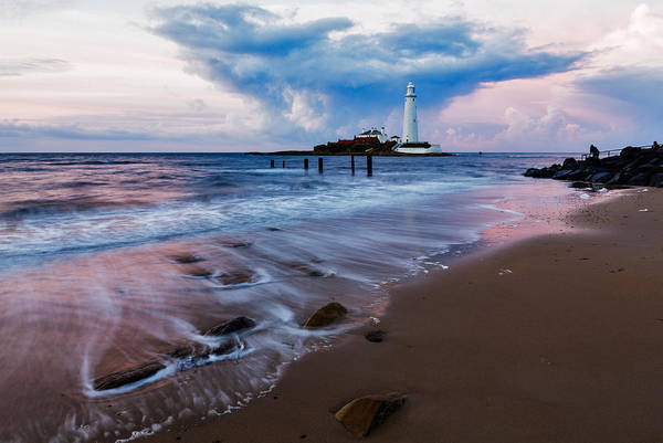 Wall Art - Photograph - Saint Mary's Lighthouse At Whitley Bay by Ian Middleton