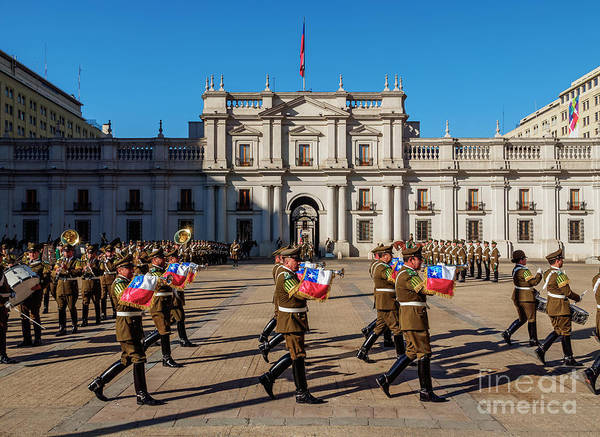 Flag Of Chile Wall Art - Photograph - Santiago De Chile by Karol Kozlowski