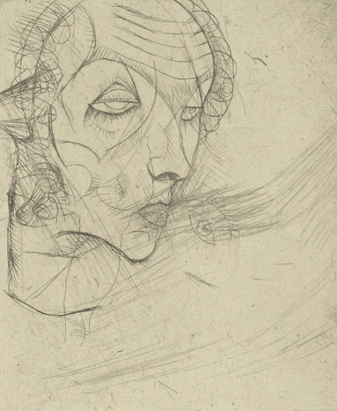Relief - Self Portrait by Egon Schiele