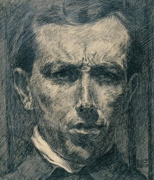 20th Century Man Drawing - Self-portrait by Umberto Boccioni