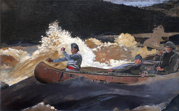 Painting - Shooting The Rapids, Saguenay River by Winslow Homer