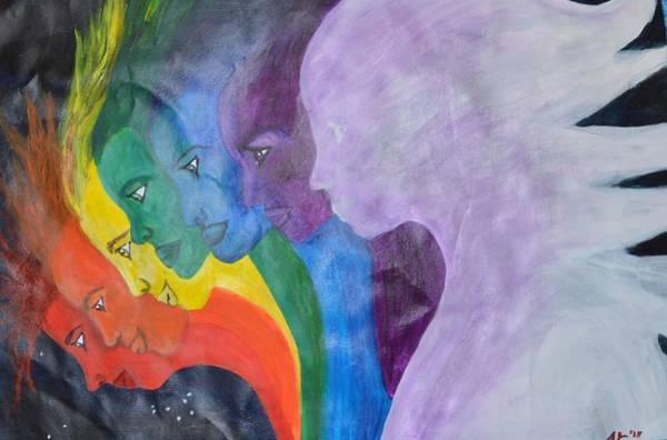 Pleiades Painting - 7 Sisters by Alexa Vance