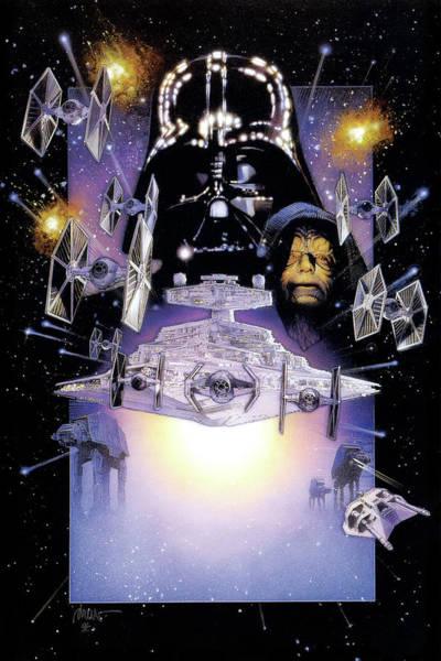 Jedi Digital Art - Star Wars Episode V - The Empire Strikes Back 1980 by Geek N Rock