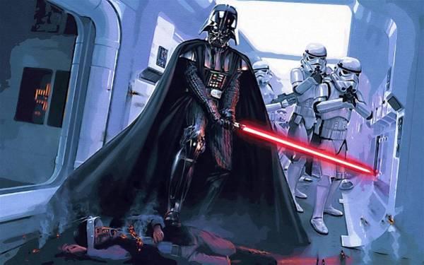 Star Wars Episode 3 Wall Art - Digital Art - Star Wars Saga Art by Larry Jones
