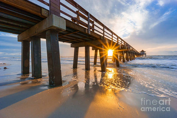 Photograph - Sunset Naples Pier, Florida by Hans- Juergen Leschmann
