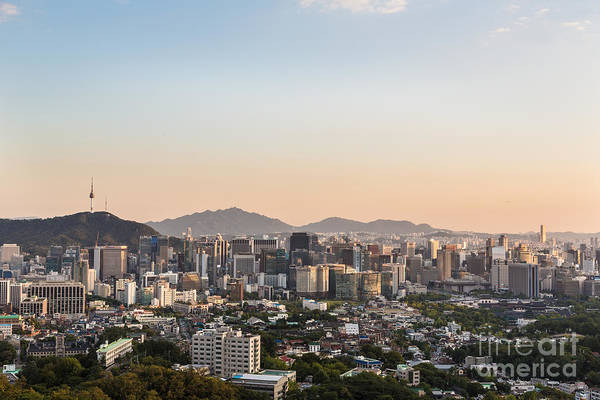 Photograph - Sunset Over Seoul by Didier Marti