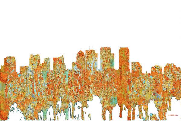 Tampa Digital Art - Tampa Florida Skyline by Marlene Watson