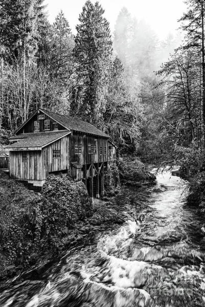 Wall Art - Photograph - The Cedar Creek Grist Mill In Washington State. by Jamie Pham