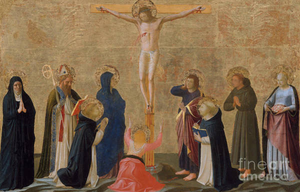 Wall Art - Painting - The Crucifixion by Fra Angelico