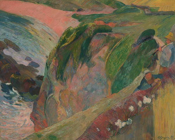 Wall Art - Painting - The Flageolet Player On The Cliff by Paul Gauguin