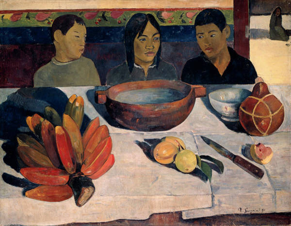 Wall Art - Painting - The Meal by Paul Gauguin