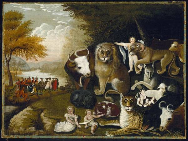 Wall Art - Painting - The Peaceable Kingdom by MotionAge Designs