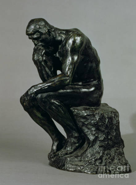 Wall Art - Sculpture - The Thinker by Auguste Rodin