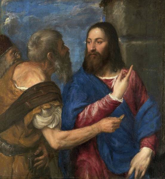 Painting - The Tribute Money by Titian