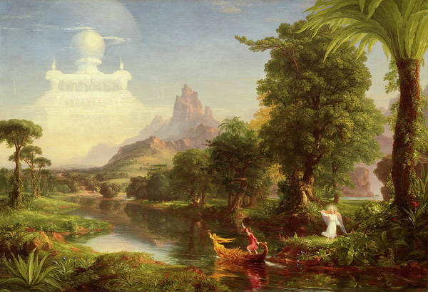 Shining Painting - The Voyage Of Life, Youth by Thomas Cole