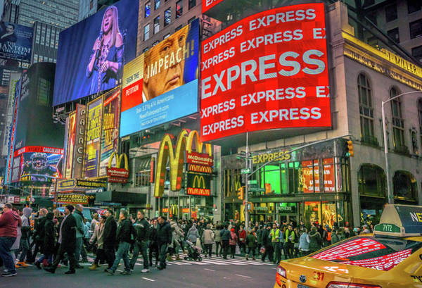 Wall Art - Photograph - Times Square by June Marie Sobrito
