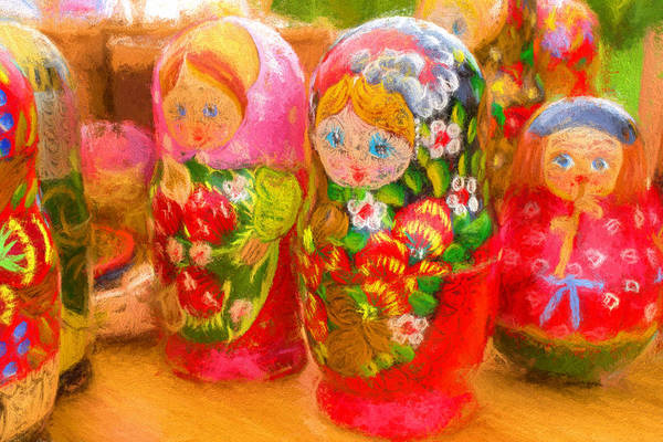 Photograph - Family Of Pure Russian Matrushka Puzzle Dolls by John Williams