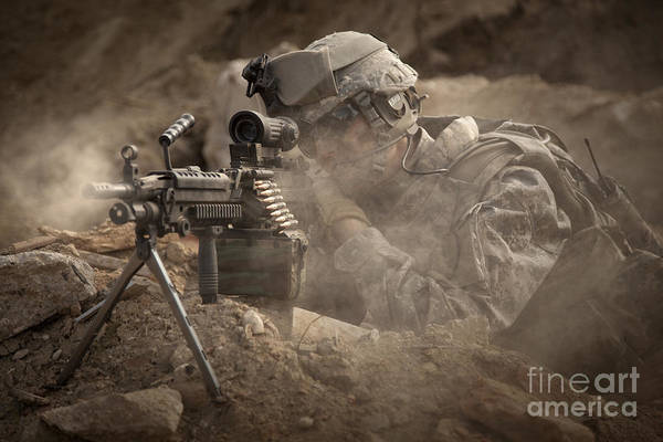 Sharpshooter Wall Art - Photograph - U.s. Army Ranger In Afghanistan Combat by Tom Weber