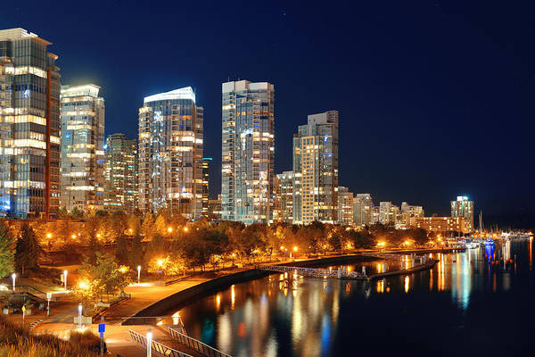 Photograph - Vancouver Night by Songquan Deng