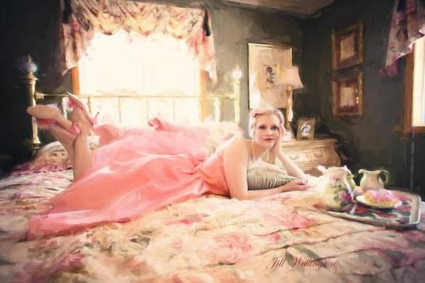 Photograph - Vintage Val Bedroom Dreams by Jill Wellington