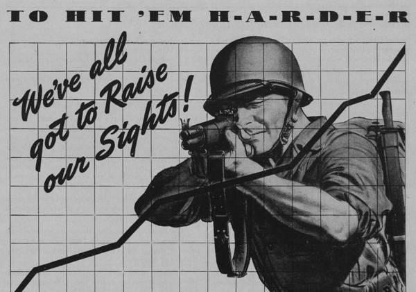Aim Painting - World War II Advertisement by American School
