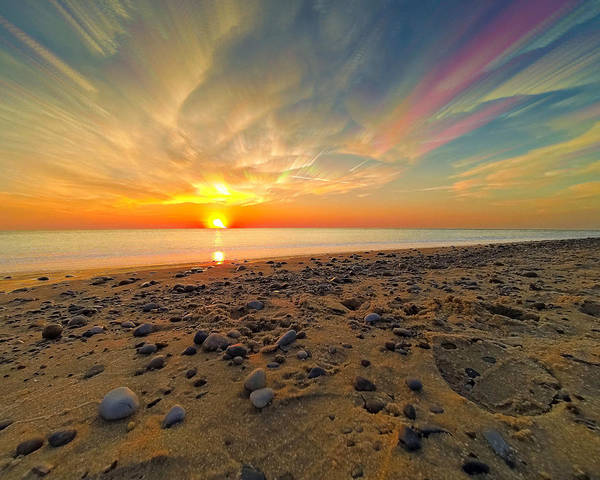 Wall Art - Photograph - 70 Mile Stacked Sunset by Jackie Novak