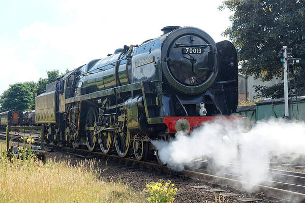 Photograph - 70013 Oliver Cromwell At Loughborough by David Birchall