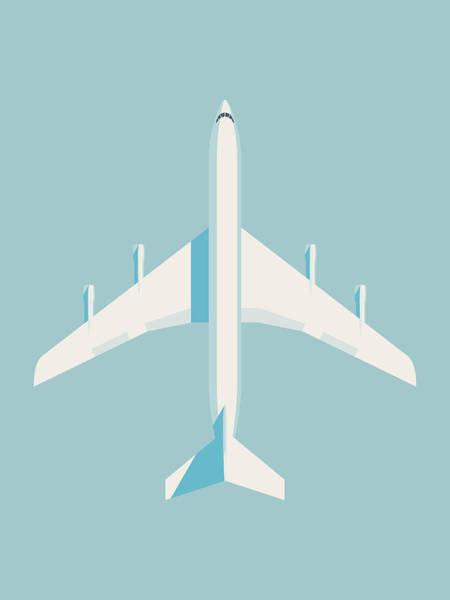 Airplane Digital Art - 707 Passenger Jet Airliner Aircraft - Sky by Ivan Krpan