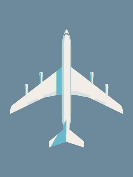 Airplane Digital Art - 707 Passenger Jet Airliner Aircraft - Slate by Ivan Krpan