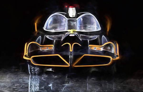 Digital Art - 70s Batmobile by JC Findley