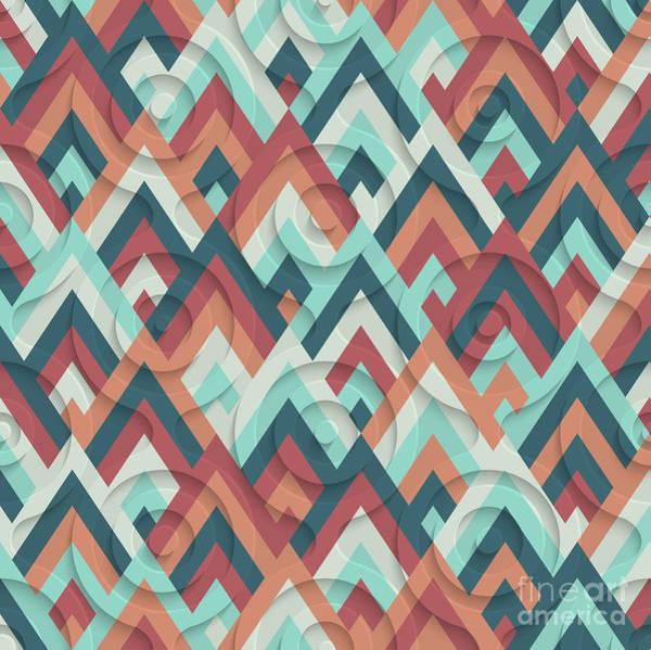 Wall Art - Digital Art - 70s Pattern  by Mark Ashkenazi