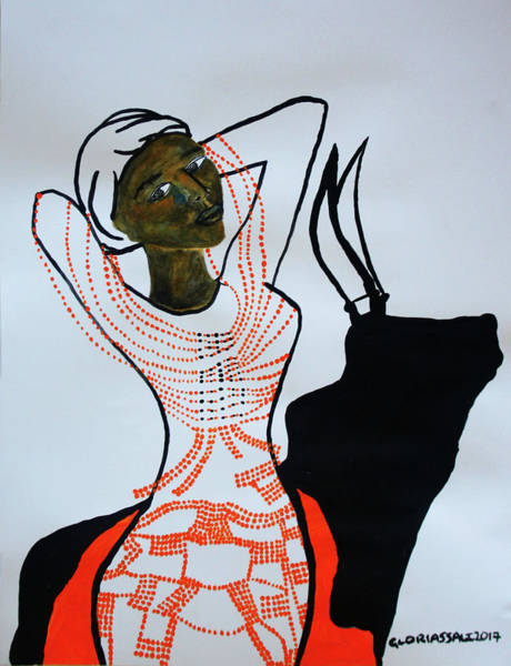 Painting - Dinka Bride South Sudan by Gloria Ssali
