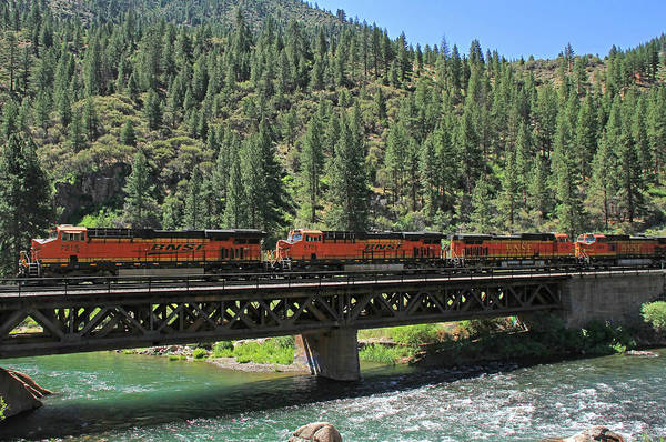 Railroad Bridge Photograph - 7215 by Donna Kennedy