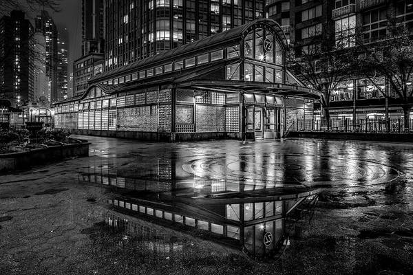 Photograph - 72nd St Broadway Subway Station Nyc Bw by Susan Candelario
