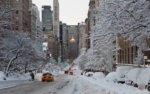 Skyline Digital Art - Winter by Super Lovely