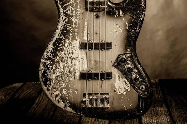 Photograph - 73.1834 011.1834c Jazz Bass 1969 Old 69 by M K Miller