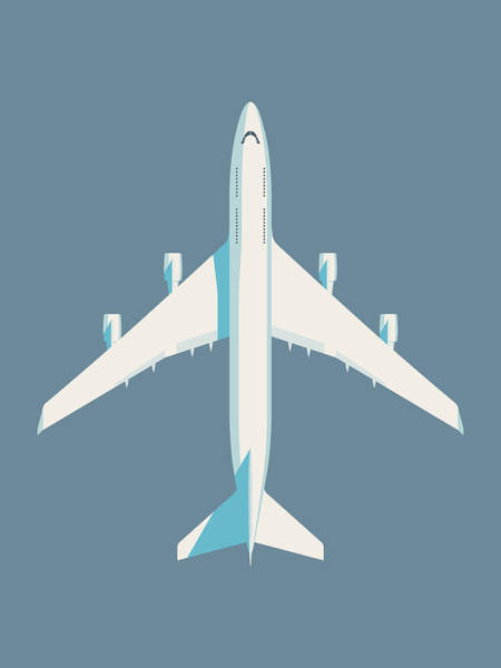Aircraft Digital Art - 747 Jumbo Jet Airliner Aircraft - Slate by Ivan Krpan