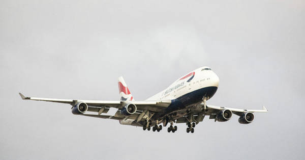 In Flight Photograph - 747 by Martin Newman