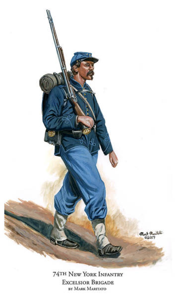Wall Art - Painting - 74th New York Infantry - Excelsior Brigade by Mark Maritato