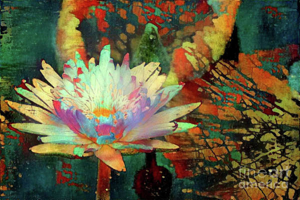 Wall Art - Digital Art - Jeweled Water Lilies by Amy Cicconi