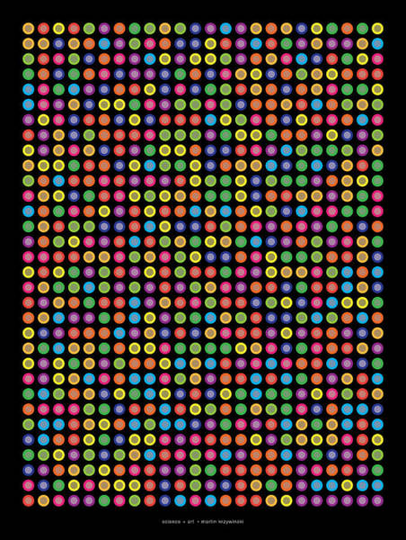 Wall Art - Digital Art -  768 Digits Of Pi Up To Feynman Point by Martin Krzywinski