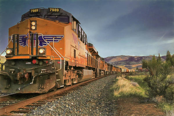 Union Pacific Railroad Wall Art - Photograph - 7989 - Nine Engines Westbound by Donna Kennedy