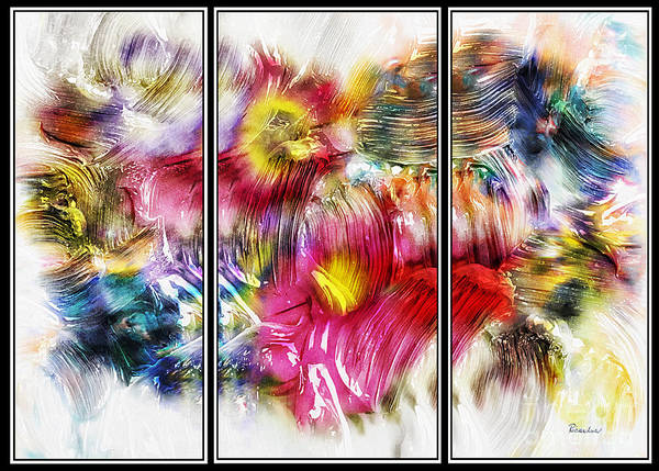 Painting - 7b Abstract Expressionism Digital Painting by Ricardos Creations