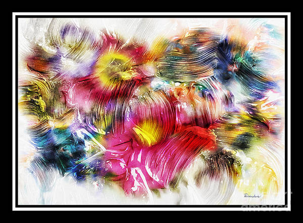 Painting - 7d Abstract Expressionism Digital Painting by Ricardos Creations