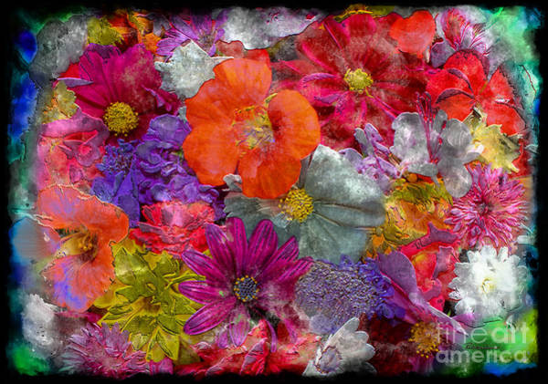 Painting - 7f Abstract Floral Painting Digital Expressionism by Ricardos Creations