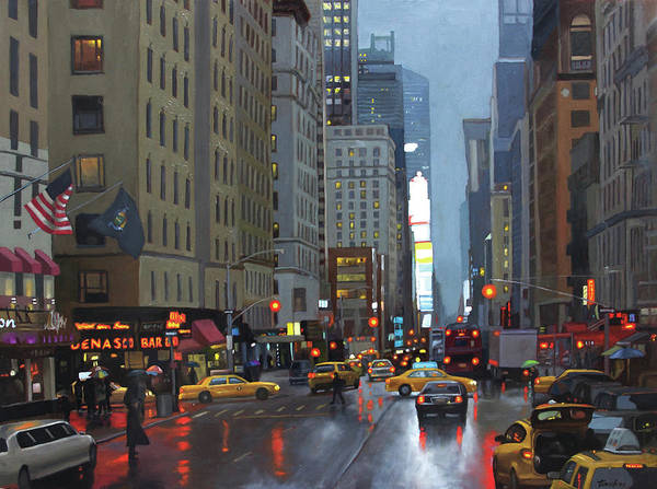 Painting - 7th Avenue by Linda Tenukas