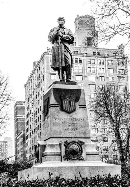 Richard Morris Hunt Wall Art - Photograph - 7th Regiment Memorial Central Park New York by William Rogers